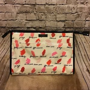 kate spade large heady makeup bag